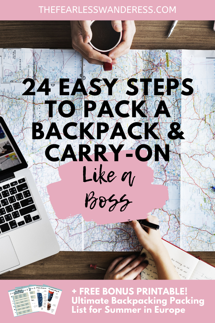 24 Easy Steps to Pack a Backpack and Carry-On Like a Boss The Fearless Wanderess update 2020