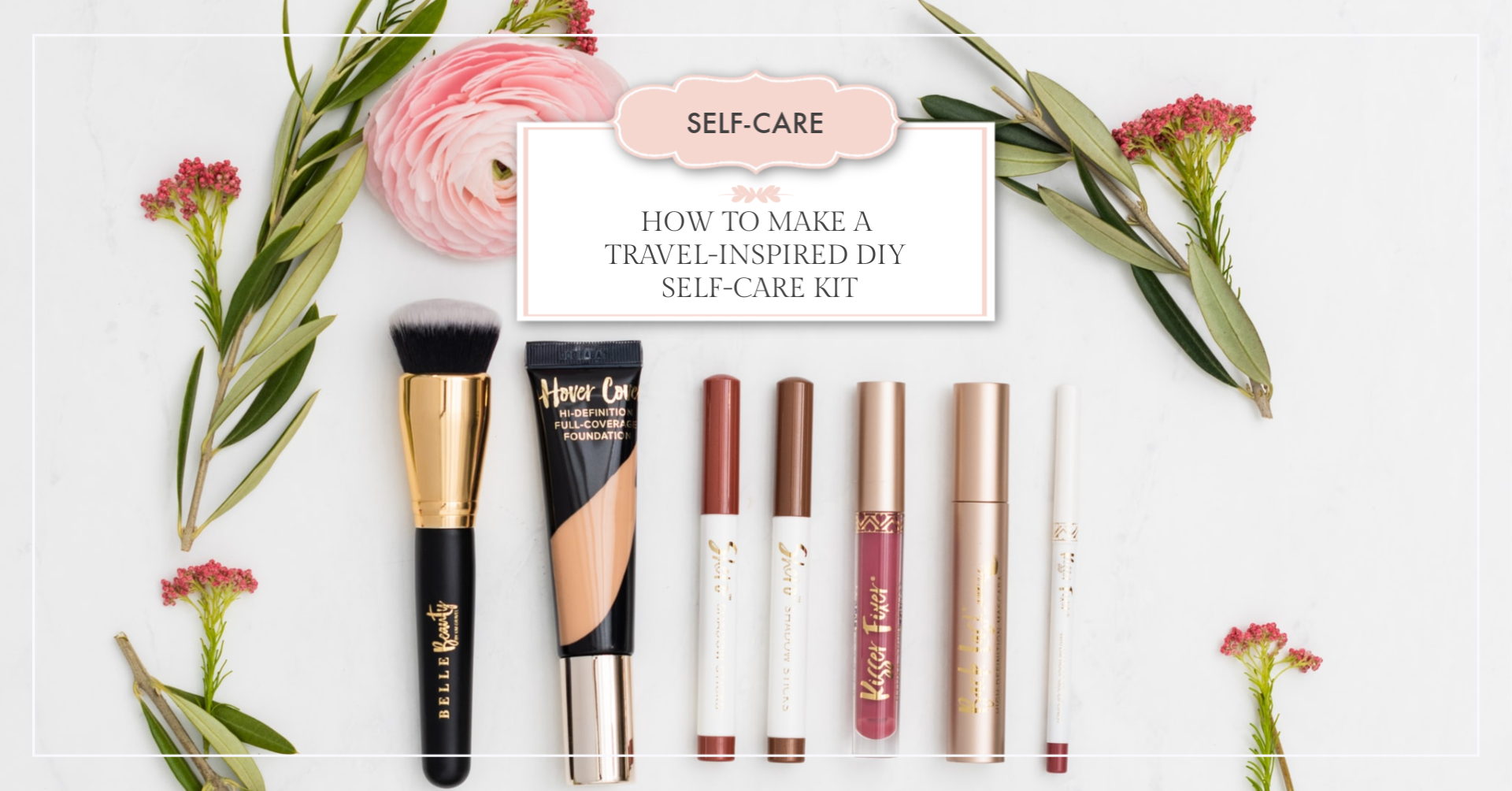travel-inspired DIY self-care kit article header